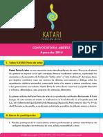 [Bases de participación] Katari Feria de artes