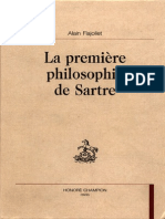 53437916 Alain Flajoliet La Premiere Philosophie de Sartre