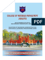 Prospectus Indian College of Mm Mba_2009