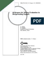 Hydrogen IC engines