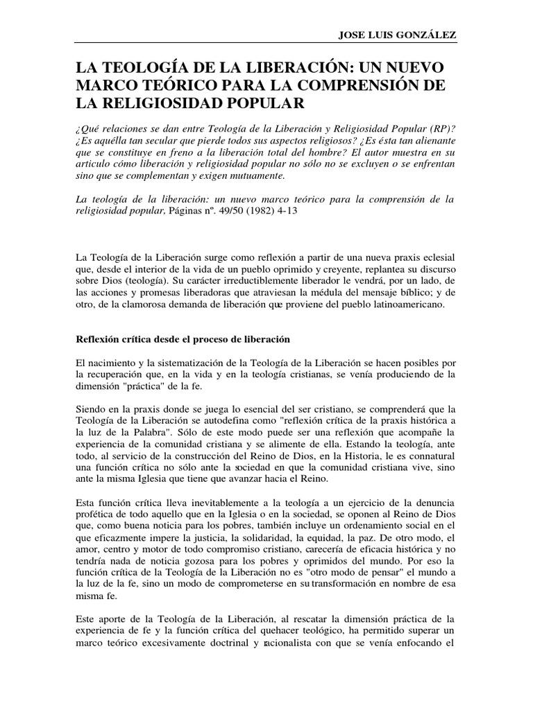 088_gonzalez Teologia Liberacion Nuevo Marco Teorico Comprension ...