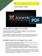 Hacer páginas web en Joomla