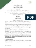 Ley_905 2004