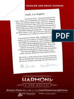 Harmony Skirball Invitation