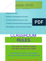 Marijean Smith Classroom Rules