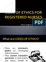 Code of Ethics for Registered Nurses