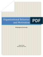 Organizational Behavior Theories and Motivation