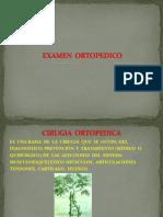 EXAMEN  ORTOPEDICO
