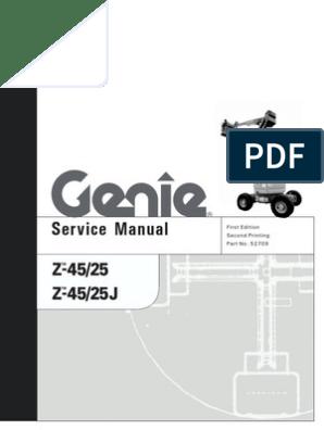 Service Genie Z45-25 | Motor Oil | Diesel Engine