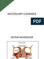 Mucosiliary Clearance