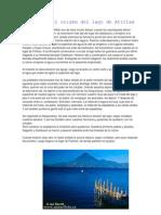 Leyenda Del Origen Del Lago de Atitlan