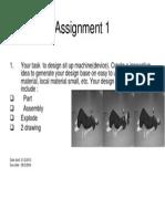 Assignment CAD CAM 1 2012