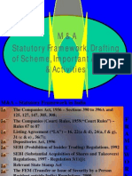 M&a Statutory Framework, Drafting of Scheme, Important Aspects & Activities