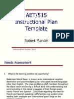 Instructional Plan Template Robert Mandel Week 5