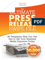 The Ultimate Press Release Swipe File by Pete Williams_SAMPLE