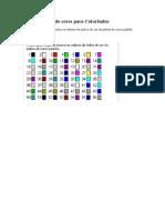 VBA - Tabela de Cores