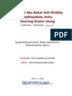 Khalifah Abu Bakar Ash-Shiddiq Seorang Orator Ulung