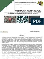 Analisis de fragmentación - granulometria en voladura de rocas con ImageJ - Romel Villanueva - Iiming