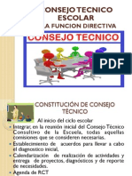 Consejo Tecnico Escolar y La Funcion Directiva