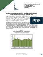 Desempleo 2013 INEGI