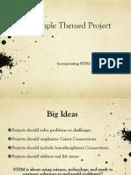 Sample STEM Themed Project