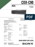 c 90 Service ManualFM/AM COMPACT DISC PLAYER