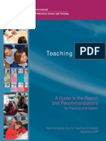 Teaching Reading - A Guide to the Report and Recommendations Australia