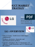 Product Market Strategy of LG