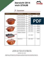 2014  Staub 鑄鐵鍋和陶鍋新品