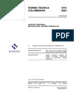 Analisis Sensorial Prueba Triangular NTC2681