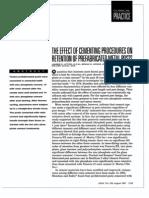 Efectos Del Cementado en La Retencion de Postes Prefabicados y de Metal