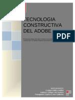 TECNOLOGIA CONSTRUCTIVA DEL ADOBE - DISEÑO VI