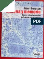 Bergson-materia y Memoria