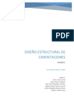 DISEÑO ESTRUCTURAL DE CIMENTACIONES