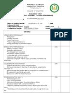 Evaluation Sheet for Final Demo