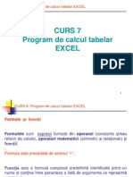 Curs 7 Program de Calcul Tabelar EXCEL 2 - Functii