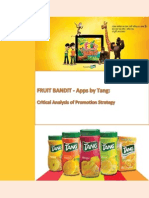 Fruit Bandit – Apps by Tang_Critical Analysis of Promotion Strategy
