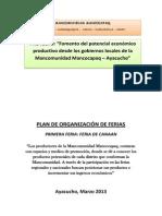 Plan Organizacion de Ferias