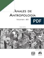 Cárdenas Blanca. 2014. Construcciones culturales del sabor. Anales de Antropología