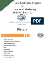 Detailed Program Content - PGCIM01 Ver 1.0