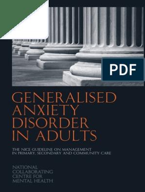 E08A- full Gideline GAD (NICE) pdf | Diagnostic And