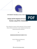 Design and Development of Grass Cutting Machine Using DFMA Methodology