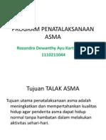 Program Penatalaksanaan Asma