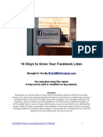 Ways to Grow Your Facebook Likes
