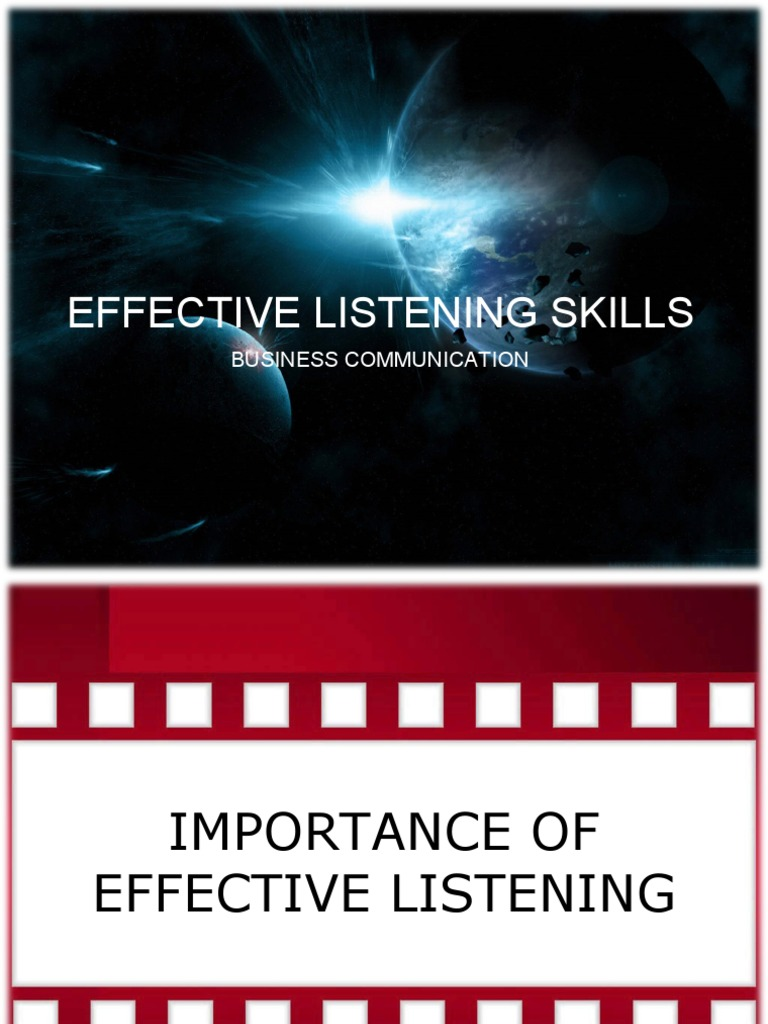an overview of effective listening skills Program overview  helps people develop their listening skills to increase  effective  the epic version includes a personalized communication.