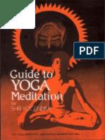 Guide to Yoga Meditation