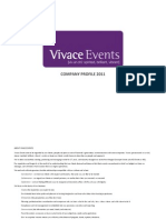 Vivace Events Company Profile 2011