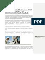 ASPECTOS FUNDAMENTALES DE LA SUPERVISIÓN PARA UNA CONSTRUCCIÓN CON CALIDAD