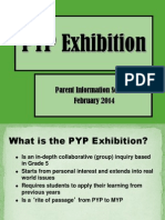 pyp final exhibition parent info  session 2013  2