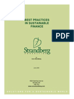 Sustainable Finance - Best Practices